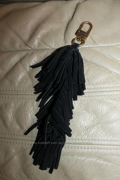 Кожаная подвеска на сумку кисточка - натуральная кожа