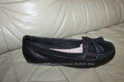 Кожаные туфли мокасины балетки FATFACE, р. EUR 38 стелька 24, 5 см