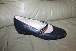 Кожаные туфли ELMDALE, Англия UK 7, на 40 р, стелька 26, 5 см