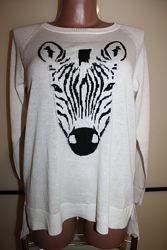 Оригинальный свитерок зебра CECILIA CLASSICS, Германия, L, на 46-48 р