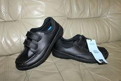 Кожаные туфли на липучках новые LILY & DAN UK 2, на 34 р, стелька 23 см