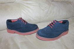 Замшевые туфли броги MARKS&SPENCER KIDS UK 6 EUR 23