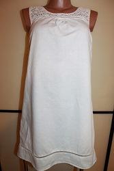 Платье с прошвой лен котон F & F  UK 10 EUR 38 на 44 р