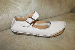 Кожаные туфли балетки CLARKS Вьетнам UK 3.5 D стелька 23 см