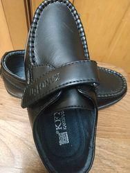 Кожаные туфли мокасины 27 размер