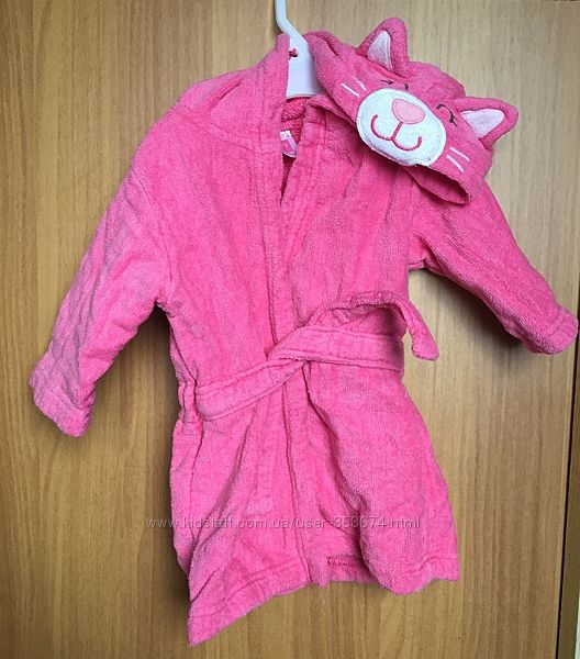Махровый халат для девочки