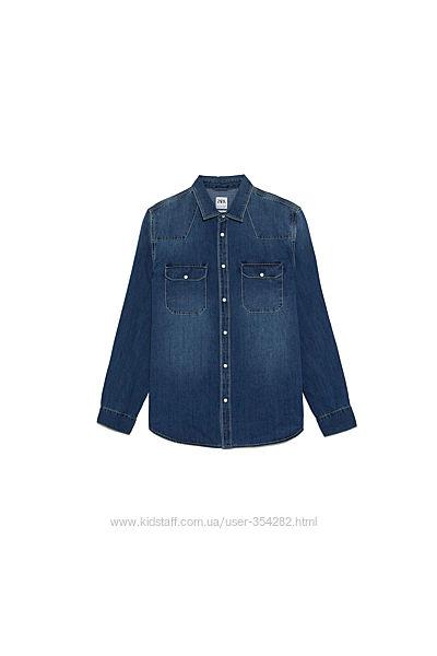 Джинсовая рубашка ZARA MAN