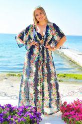 Женские пляжные туники Большие размеры Выбор разных цветов 52-56