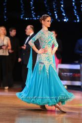 ЦЕНА СНИЖЕНА Очень красивое платье для бальных танцев стандарт