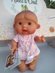 Ванильный пупсик девочка в розовом с челкой 26 см Pepotin Nines dOnil