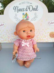 Ванильный пупсик девочка в розовом платье 26 см Pepotin Nines dOnil