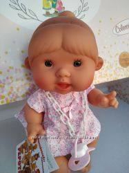 Ванильный пупсик девочка розовые ромашки  26 см Pepotes Nines dOnil