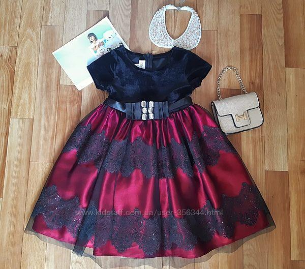 Красивенное нарядное платье Bonnie Jeans USA 4-6лет