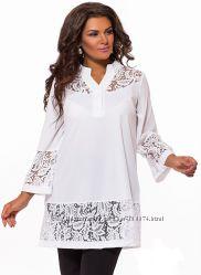 Красивая блуза, туника, разные модели и расцветки, размеры 48-54