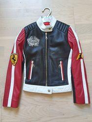Куртка Ferrari оригинал натуральная кожа 5 лет