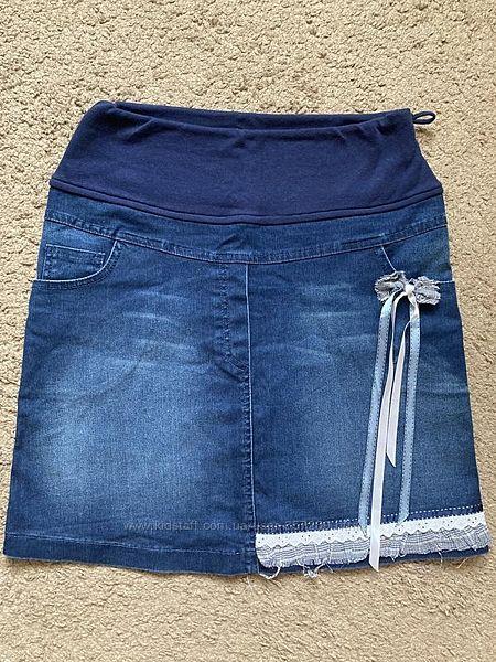 Джинсовая юбка для беременной