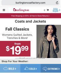 Зимняя одежда Burlingtoncoatfactory США