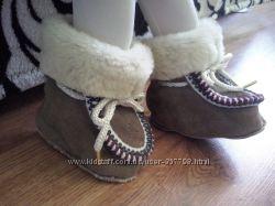 Пинетки-ботинки натур замша мех 0-9 мес. стелька 11 см