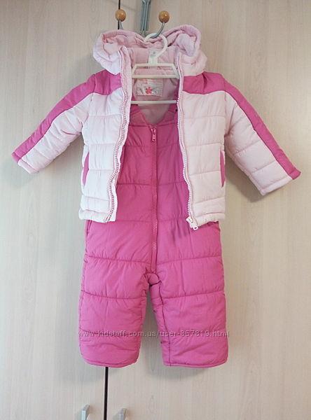 Новый симпатичный костюм с полукомбезом Baby Club CandA Германия, р. 74