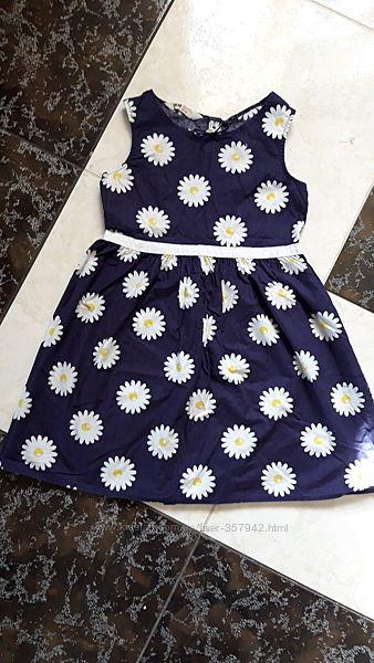 Платье сарафан H&M 128-134 хлопок в отличном состоянии