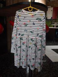 Платье сарафан H&M 134-140 хлопок новое