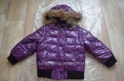 Куртка-пуховик Moncler для девочки на возраст 5-6, 5 лет. Состояние 5-