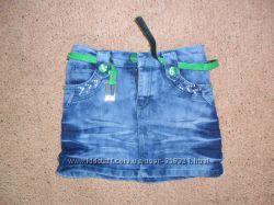 Юбка джинсовая почти новая на девочку