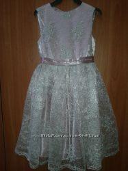 Нарядное платье для девочки. Размер 7-8