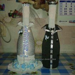 Декор свадебного шампанского и не только