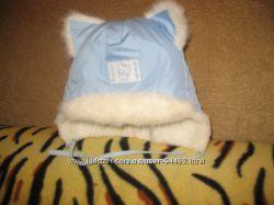 Красивая зимняя шапочка с ушками