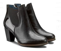 Деми ботинки Tamaris, кожа, подойдут на 39 размер