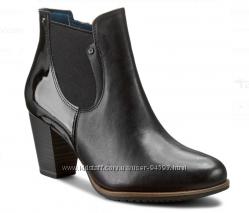 Деми ботинки Tamaris, кожа, размер 40, подойдут на 39 размер