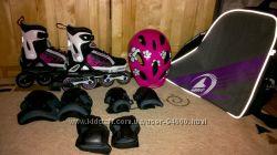 Полный комплект мигающие ролики Rollerblade Spitfire Flash G