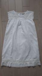 Трендовое белое платье с кружевами Next