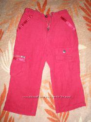 Красные вельветовые штанишки 80р. и на 2 года