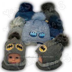 Комплект Шапка шлем хомут для модников Ambra Польша