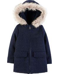 Теплое деми пальто OshKosh для девочки