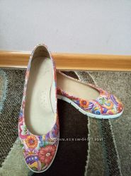 Кожаные балетки-туфли 39 р.
