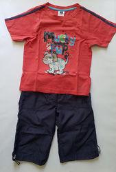 Футболка фирмы М&C и шорты Clan, на 4-6 лет.