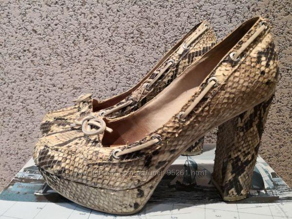 Туфли Sperry top-sider, кожа под рептилию, размер 37, 5-38