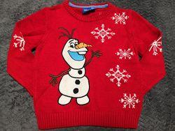Новый свитер Primark Disney Олаф 6-7 лет.