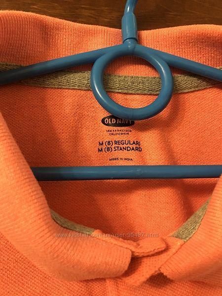 Стильная яркая футболка поло  модному парню 140-146 рост