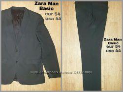 Zara Man Basic стильный качественный деловой костюм, eur 54, usa 44, замеры