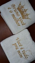 Именные полотенца с вышивкой