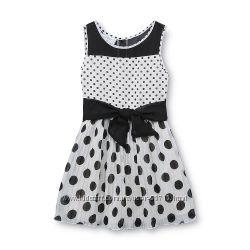 Нарядное платье в горохи из США - 2Т, 3Т, 4Т