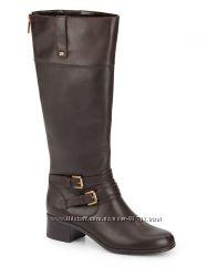 Шикарные кожаные сапоги Bandolino. Темно - коричневый цвет. Все размеры.