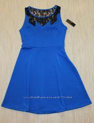 Красивое синее платье из США фирмы Attention - XS, S