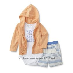Летний комплект костюм Little Wonders тройка  - 12м