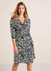 Яркое эффектное платье с принтом зебра Mango Violeta плюс размер -  M, L