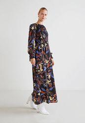 Длинное платье с цветочным принтом Mango - M